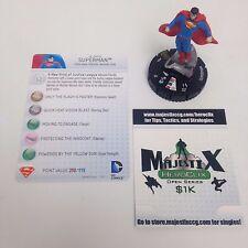 Heroclix Justice League Trinity War set Superman #050 Super Rare figure w/card!