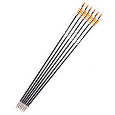 6pcs Archery Arrows hunting Spine 700 7mm Fiberglass Target Practice Arrow sport