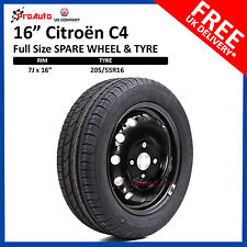 """CITROEN C4 2011 - 2017 FULL SIZE STEEL SPARE WHEEL 16""""  AND TYRE"""