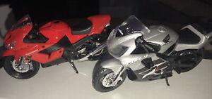 Lot of 2 Maisto 1/18 Kawasaki Ninja ZX-14 & Honda 600 F4
