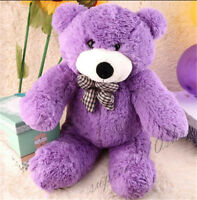 "23"" Giant Huge Purple teddy Bear Stuffed animals Plush soft kids toys doll gift"