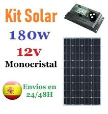 Kit placa panel solar 180w 12v Monocristalino + regulador solar pwm
