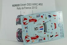 DECAL CALCA 1/43 Citroën DS3 WRC #52 S. Chardonnet Rally de Francia 2012