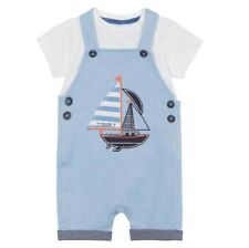 Jasper Conran Baby Boys Dungarees Shorts T Shirt Nautical 3-6 Months