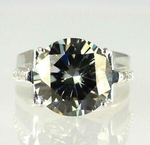 Huge & Rare 11.68 Ct Chocolate Brown Diamond Solitaire Halo Men's Wedding Ring