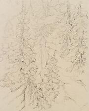 DE BRETENIÈRE (1804-1882), Wasserfall im Dalatal, Wallis, Schweiz, 1838, Zchng