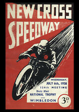 New Cross Speedway 1938 Repro Advertising POSTER