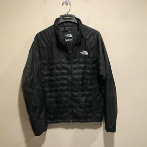 The North Face Thermoball Jacket Men's S Black Quilted Puffer Light Weight Coat