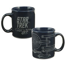 Star Trek Original TV Series Enterprise Diagram and Logo Ceramic Mug, NEW UNUSED