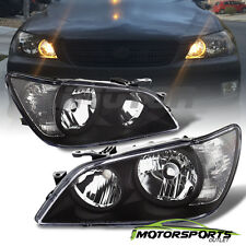 For 2001 2002 2003 2004 2005 Lexus IS300 Factory Style Black Headlights Pair