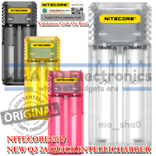 NITECORE New Q2 Universal Smart Vape Mods 18650 Battery Quick 2A Clear Charger