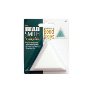 BeadSmith® Set of 3 Triangular Plastic Bead Trays