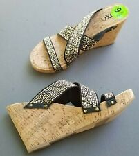 OXOX  studded cork wedge 9.5 Sandals Shoes
