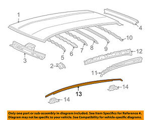 Scion TOYOTA OEM 08-14 xD Roof-Drip Molding Left 7555252150