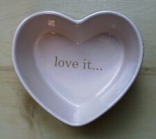 VALENTINE'S DAY HEART SHAPED CERAMIC DISH THE VINTAGE HEART COLLECTION - NEW