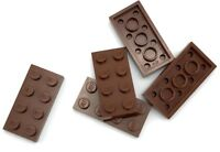 Lego 5 New Reddish Brown Plate Pieces 2 x 4
