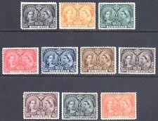 Canada 1897 1/2c - 20c Jubilee SG 121-/-133 Scott 50-59 MM/MH Cat £671($946)