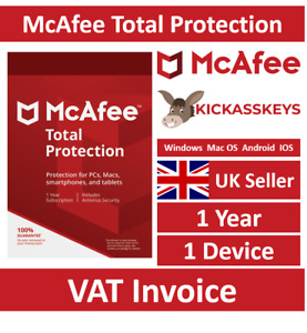 McAfee Total Protection 2021 1 Device 1 Year - Instant Delivery To Email