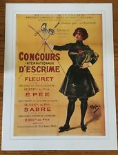 """French Vintage Olympics poster. 12x16"""" Ideal for framing. Printed in 1995"""
