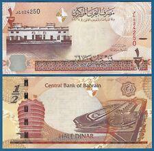 Bahrain 1/2 Dinar P 30 (2006) 2016 UNC Low Shipping! Combine FREE! Half Dinar