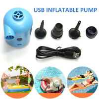 DC 5V 2A Electric Air Pump for Inflatables Air Bed Boat Pool USB Powered PVC
