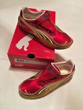 PUMA GOLD RED SUPERLIGHT FERRARI TECH SF LADIES DRIVING SHOES US SIZE 5 NIB