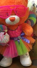 £20 Build A bear Orange Bear: costume, Shoes, Glasses & Happy birthday Cupcake