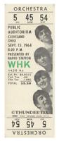 1  BEATLES VINTAGE UNUSED FULL CONCERT TICKET 1964 Cleveland, Ohio   laminated