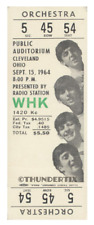 1  BEATLES VINTAGE UNUSED FULL CONCERT TICKET 1964 Cleveland, Ohio   laminated
