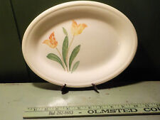 "Semi Vitreous Tulips Serving Platter 12"" Edwin M. Knowles China Co. USA"