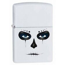 Zippo 28828 day of the dead white matte finish full size Lighter