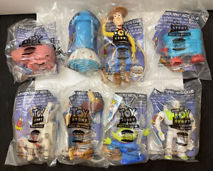 Disney Toy Story Burger King Kids Club Complete 8 Piece Set 1996 NIP NEW