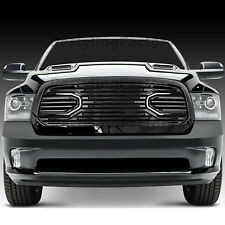 13-17 Dodge RAM 1500 Replacement Big Horn Black Packaged Grille+Black Shell