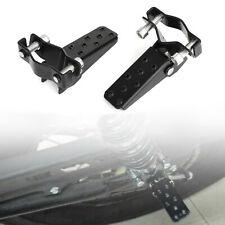 Universal Fit Black Motorcycle Passenger Foot Peg Rear Pedal Footrest 25-28mm