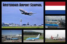 AMSTERDAM AIRPORT - SOUVENIR NOVELTY FRIDGE MAGNET - SIGHTS / FLAGS / GIFTS