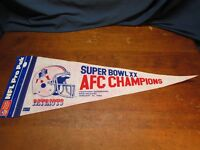 NEW ENGLAND PATRIOTS SUPER BOWL XX AFC CHAMPS FULL SIZE PENNANT WHITE