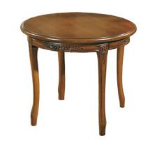 Round coffee table, wooden side table for living room, classic coffee table