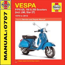 Vespa Scooter P125 P125X PX125E PX125T5 Classica P150X PX150E Haynes Manuale