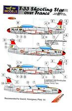 LF Models Decals 1/72 LOCKHEED T-33 SHOOTING STAR OVER FRANCE with Masks