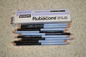 (9) Dixon Rubacore Vintage Typewriter, Pencil & Ink Eraser Partial Box #854