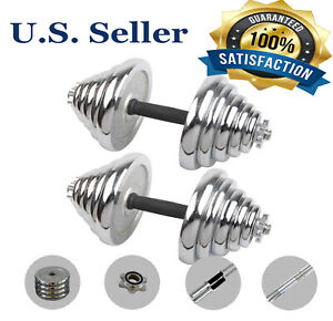 (110/66/44LB) Adjustable Weight Cast Iron Dumbbell Barbell Kit Home Workout Tool
