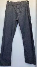 Raleigh Denim Black Denim Jeans, Men's 30 x 32 Button Fly 5 Pockets Flat Front