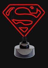 Superman logo Neon night light - LED fluorescent tube sign (bed room table lamp)