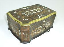 Casket Wooden Box With Inlaid Munich XIX Century