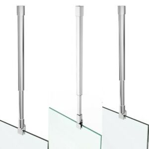 Deckenhalter Glas Stabilisator Haltestange Dusche Stabilisationsstange 20-120 cm