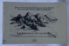 LACKAWANNA CUT GLASS CO. CATALOG, CUT GLASS, REPRINT of 1903 CATALOG