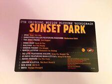 SUNSET PARK THE ORIGINAL MOTION PICTURE SOUNDTRACK  2 PAC AND OTHERS 2XLP VINYL