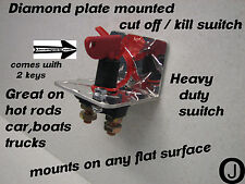 Diamond Plate Racing Master Battery Quick Disconnect Cut Off Safety switch