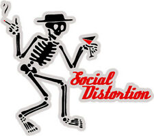 "Social Distortion American band skeleton logo sticker decal 5"" x 4"""