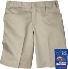 NEW Dickies Girls Classic Short Khaki Regular and Plus Sizes School Uniform
